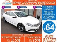 2013 VW PASSAT CC 2.0 TDI GT GOOD / BAD CREDIT CAR FINANCE FROM 64 P/WK