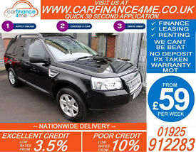 2010 LAND ROVER FREELANDER 2.2 TD4E GS GOOD / BAD CREDIT CAR FINANCE FROM 59 P/W