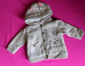 Baby girls mark's and spencer 0 3 months newborn jacket beige coat