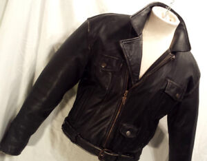 Manteau HARLEY Homme MEDIUM Cuir Made in USA 245$ MAD