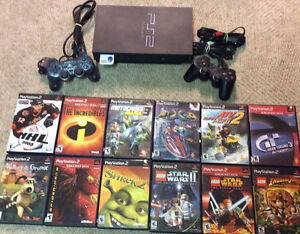 Playstation 2 Child Friendly Bundle! 2 Controllers, 12 Games!
