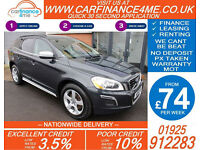 2011 VOLVO XC60 2.4D AWD D5 R-DESIGN GOOD / BAD CREDIT CAR FINANCE FROM 74 P/WK