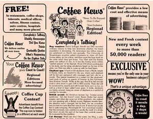 COFFEE NEWS FRANCHISE FOR SALE