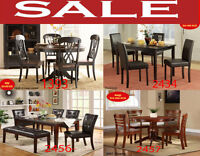 trestle tables, square table, tables, chair, chaise, kitchen set
