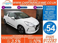 2016 CITROEN DS 3 1.2 PURETECH CHIC GOOD / BAD CREDIT CAR FINANCE FROM 54 P/WK