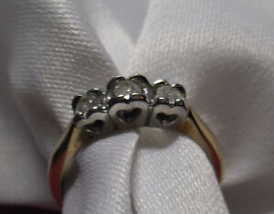 "10kt Diamond ""Trinity"" Engagement or Anniversary Ring - Size 7"