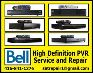 Bell HD PVR Satellite Receiver Repairs Free Estimate