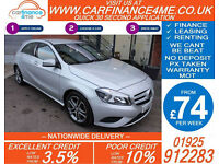 2013 MERCEDES A180 1.5 CDI SPORT GOOD / BAD CREDIT CAR FINANCE FROM 74 P/WK