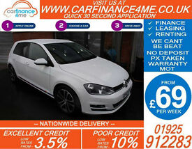 2013 VW GOLF 1.4 TSI GT ACT 140 GOOD / BAD CREDIT CAR FINANCE FROM 69 P/WK
