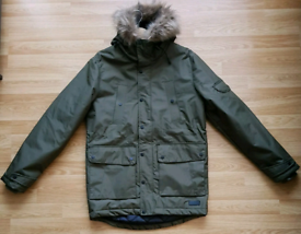 Mens Supply & Demand Khaki Padded Long Parka Jacket Medium M EU 48-50