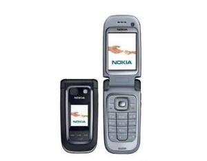 Nokia 6267 - GSM Unlocked Flip Phone - Cell Phone, Micro SD, 2 MP Camera - Black