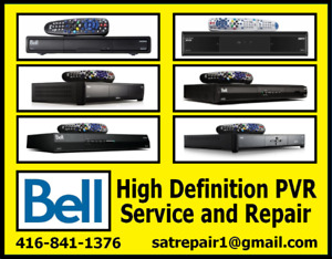 Bell HD PVR Satellite Receiver Repairs Free Estimate