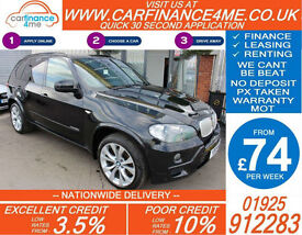 2009 BMW X5 3.0 SD M-SPORT GOOD / BAD CREDIT CAR FINANCE FROM 74 P/WK