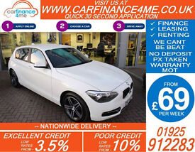 2014 BMW 116D 2.0 TD SPORT GOOD / BAD CREDIT CAR FINANCE FROM 69 P/WK