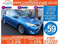 2013 TOYOTA VERSO 2.0 D-4D EXCEL GOOD / BAD CREDIT CAR FINANCE FROM 59 P/WK