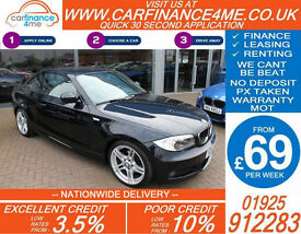 2012 BMW 118D 2.0 SPORT PLUS EDITION GOOD / BAD CREDIT CAR FINANCE FROM 69 P/WK