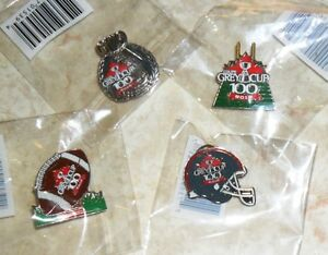 CFL Grey Cup pin set 4 diff. pins Canadian Football League