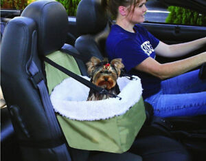 Pet Booster Seat with Removable Soft & Cozy Faux Sheep Skin