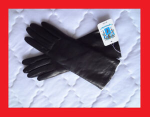 ** NEW ** Portolano Woman Leather Gloves with cashmere 7.5