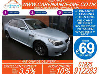 2006 BMW M5 5.0 V10 SMG 507 BHP GOOD / BAD CREDIT CAR FINANCE FROM 69 P/WK
