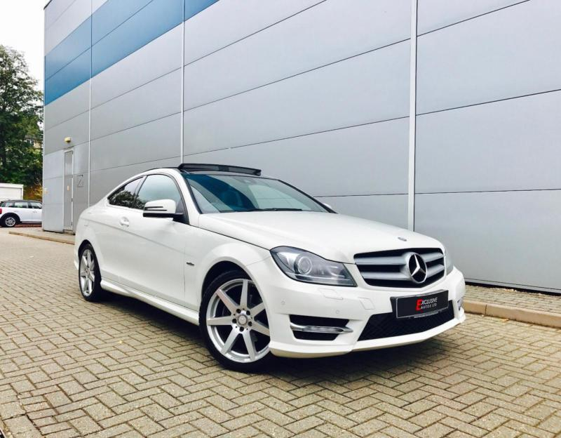 2011 61 reg mercedes benz c250 cdi amg sport coupe white panoramic sunroof in watford. Black Bedroom Furniture Sets. Home Design Ideas