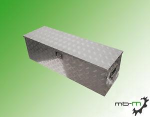 aluminium werkzeugkasten staubox 123x38x38cm alubox abschlie bar pkw anh nger. Black Bedroom Furniture Sets. Home Design Ideas