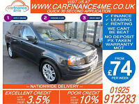 2010 VOLVO XC90 2.4 AWD D5 SE GOOD / BAD CREDIT CAR FINANCE FROM 74 P/WK