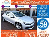 2011 VW SCIROCCO 1.4 TSI DSG GOOD / BAD CREDIT CAR FINANCE FROM 59 P/WK