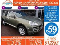 2007 PORSCHE CAYENNE S 4.8L GOOD / BAD CREDIT CAR FINANCE FROM 59 P/WK
