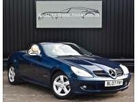Mercedes SLK 200 K Kompressor Automatic * Benitoite Blue + Heated Orient Beige *