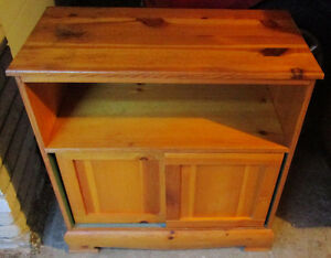 Knotty pine storage/display unit 4 sale