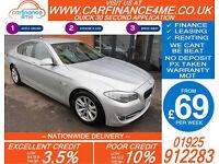 2012 BMW 520D 2.0 TD EFFICENT DYNAMICS GOOD / BAD CREDIT CAR FINANCE FROM 69 P/W