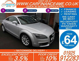 2011 AUDI TT COUPE TDI QUATTRO SPORT GOOD / BAD CREDIT CAR FINANCE FROM 64 P/WK