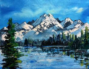 """""""Kinbasket Lake"""" original acrylic painting Edmonton Edmonton Area image 1"""