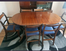 French polished solid mahogany dining table