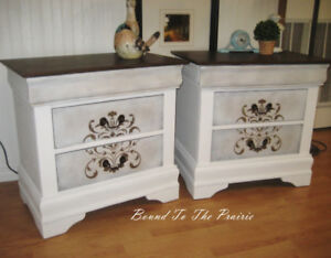 """""""From Drab to FAB""""! REStyled, Chalk Paint & Metallics Nightstand"""