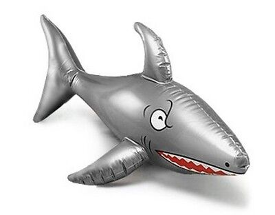 """INFLATABLE BLOW UP SHARK 90cm 36"""" PIRATE BEACH POOL FANCY DRESS PARTY NEW"""