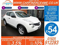 2014 NISSAN JUKE 1.5 DCI VISIA GOOD / BAD CREDIT CAR FINANCE FROM 54 P/WK