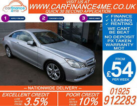 2010 MERCEDES E220 CDI SE COUPE GOOD / BAD CREDIT CAR FINANCE FROM 54 P/WK