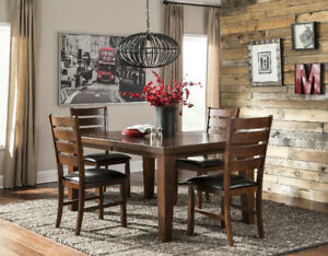 Kitchen table + 4 chairs + 1 bench - Brand New