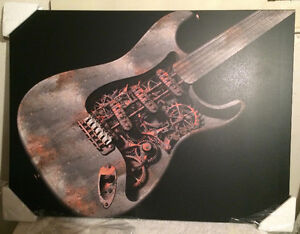Mounted Poster - Steam Punk Guitar