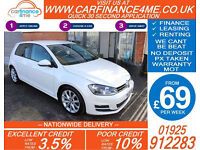 2013 VW GOLF 2.0 TDI GT DSG GOOD / BAD CREDIT CAR FINANCE FROM 69 P/WK
