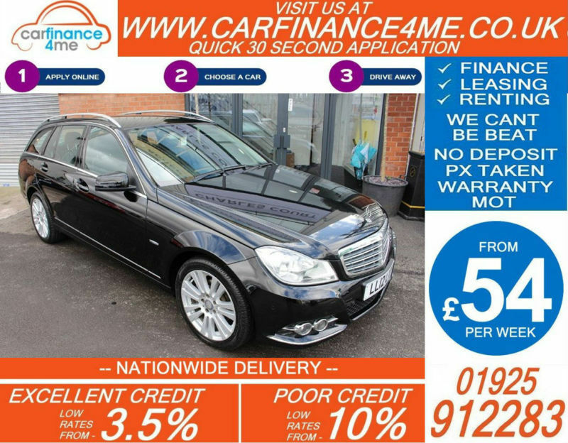 2012 MERCREDES C220 CDI ELEGANCE GOOD / BAD CREDIT CAR FINANCE FROM 54 P/WK