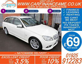 2011 MERCEDES C220 CDI SPORT GOOD / BAD CREDIT CAR FINANCE FROM 69 P/WK