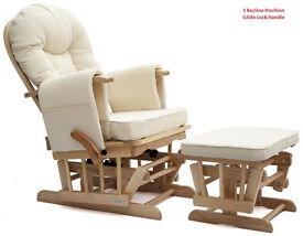 Nursing Maternity gliding/rocking chair with footstool