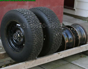 225 70 15 Winter Tires studded Winter Traction 127 GM Police 9C1