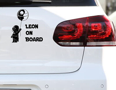 Baby on Board Darth Vader AUTO AUFKLEBER FUN JDM Sticker  Wunschname Kids Kinder