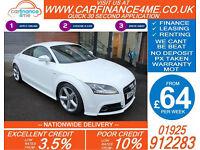 2013 AUDI TT COUPE 1.8 TFSI S-LINE GOOD / BAD CREDIT CAR FINANCE AVAILABLE