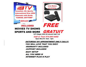 FREE ANDROID TV BOX INCLUDED MOVIES TV SHOWS SPORTS