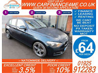 2013 BMW 118D 2.0 TD SPORT GOOD / BAD CREDIT CAR FINANCE FROM 64 P/WK